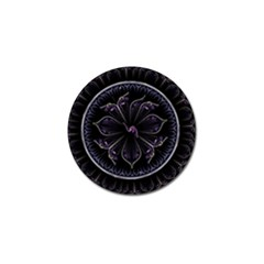 Fractal Abstract Purple Majesty Golf Ball Marker (10 Pack)