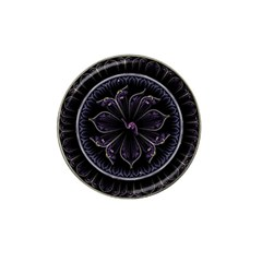 Fractal Abstract Purple Majesty Hat Clip Ball Marker (10 Pack)