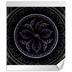Fractal Abstract Purple Majesty Canvas 20  X 24
