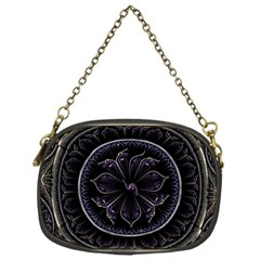 Fractal Abstract Purple Majesty Chain Purses (one Side)