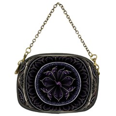 Fractal Abstract Purple Majesty Chain Purses (two Sides)