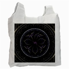 Fractal Abstract Purple Majesty Recycle Bag (two Side)