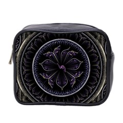 Fractal Abstract Purple Majesty Mini Toiletries Bag 2 Side