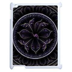 Fractal Abstract Purple Majesty Apple Ipad 2 Case (white) by Nexatart