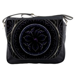 Fractal Abstract Purple Majesty Messenger Bags