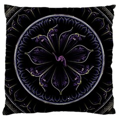 Fractal Abstract Purple Majesty Large Cushion Case (two Sides)