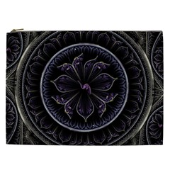 Fractal Abstract Purple Majesty Cosmetic Bag (xxl)
