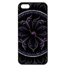 Fractal Abstract Purple Majesty Apple Iphone 5 Seamless Case (black)