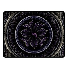 Fractal Abstract Purple Majesty Double Sided Fleece Blanket (small)