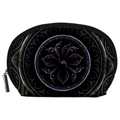 Fractal Abstract Purple Majesty Accessory Pouches (large)