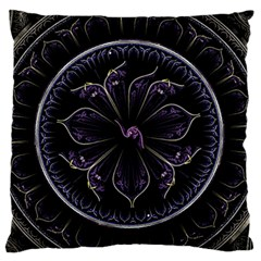 Fractal Abstract Purple Majesty Standard Flano Cushion Case (one Side)