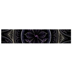 Fractal Abstract Purple Majesty Small Flano Scarf