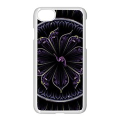 Fractal Abstract Purple Majesty Apple Iphone 8 Seamless Case (white)