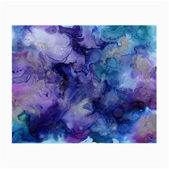 Ink Background Swirl Blue Purple Small Glasses Cloth