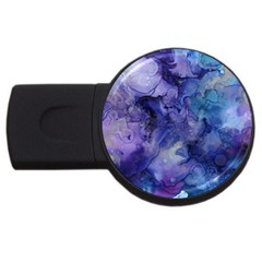 Ink Background Swirl Blue Purple Usb Flash Drive Round (4 Gb)