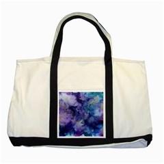 Ink Background Swirl Blue Purple Two Tone Tote Bag