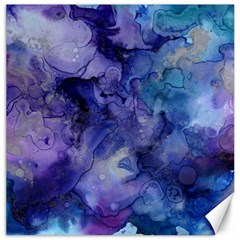 Ink Background Swirl Blue Purple Canvas 20  X 20