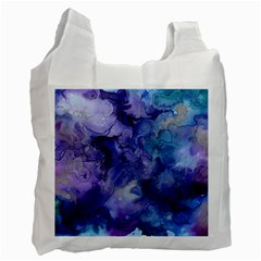Ink Background Swirl Blue Purple Recycle Bag (two Side)