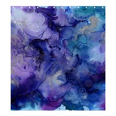 Ink Background Swirl Blue Purple Shower Curtain 66  X 72  (large)