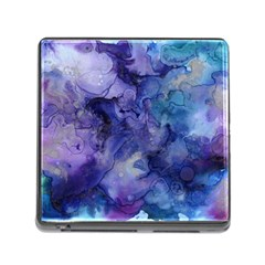Ink Background Swirl Blue Purple Memory Card Reader (square)