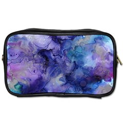 Ink Background Swirl Blue Purple Toiletries Bags 2 Side