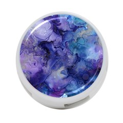 Ink Background Swirl Blue Purple 4 Port Usb Hub (two Sides)