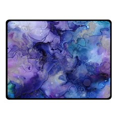 Ink Background Swirl Blue Purple Fleece Blanket (small)
