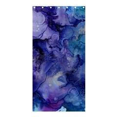 Ink Background Swirl Blue Purple Shower Curtain 36  X 72  (stall)