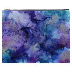 Ink Background Swirl Blue Purple Cosmetic Bag (xxxl)
