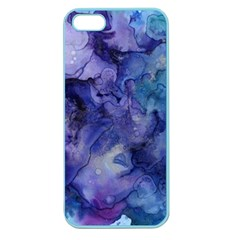 Ink Background Swirl Blue Purple Apple Seamless Iphone 5 Case (color)
