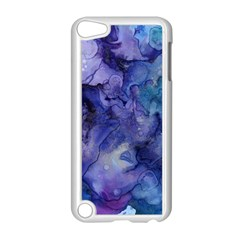 Ink Background Swirl Blue Purple Apple Ipod Touch 5 Case (white)
