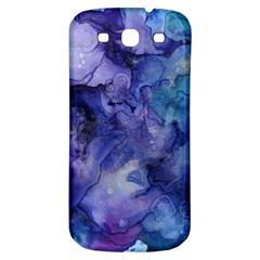 Ink Background Swirl Blue Purple Samsung Galaxy S3 S Iii Classic Hardshell Back Case