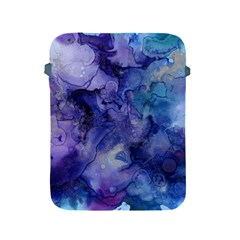 Ink Background Swirl Blue Purple Apple Ipad 2/3/4 Protective Soft Cases