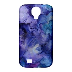 Ink Background Swirl Blue Purple Samsung Galaxy S4 Classic Hardshell Case (pc+silicone)