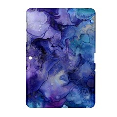 Ink Background Swirl Blue Purple Samsung Galaxy Tab 2 (10 1 ) P5100 Hardshell Case