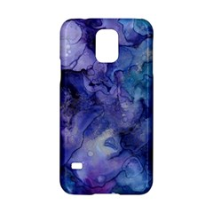 Ink Background Swirl Blue Purple Samsung Galaxy S5 Hardshell Case