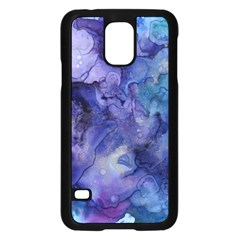 Ink Background Swirl Blue Purple Samsung Galaxy S5 Case (black)
