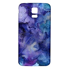 Ink Background Swirl Blue Purple Samsung Galaxy S5 Back Case (white)