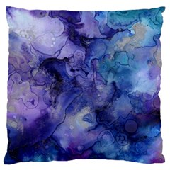 Ink Background Swirl Blue Purple Large Flano Cushion Case (one Side) by Nexatart