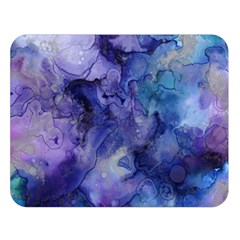 Ink Background Swirl Blue Purple Double Sided Flano Blanket (large)