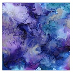 Ink Background Swirl Blue Purple Large Satin Scarf (square)