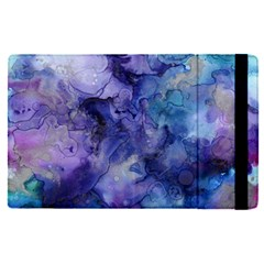 Ink Background Swirl Blue Purple Apple Ipad Pro 12 9   Flip Case