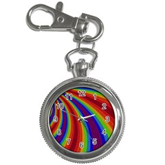 Abstract Pattern Lines Wave Key Chain Watches
