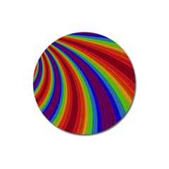 Abstract Pattern Lines Wave Magnet 3  (round)