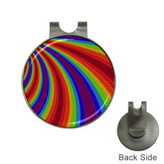 Abstract Pattern Lines Wave Hat Clips With Golf Markers