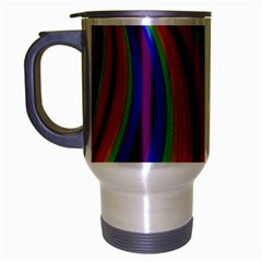 Abstract Pattern Lines Wave Travel Mug (silver Gray)