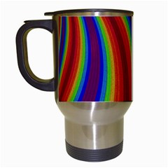 Abstract Pattern Lines Wave Travel Mugs (white)