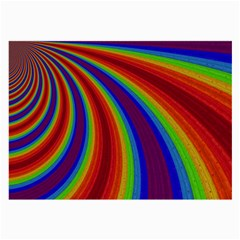 Abstract Pattern Lines Wave Large Glasses Cloth