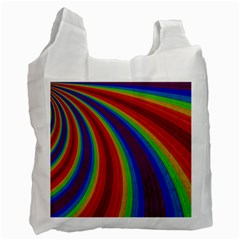 Abstract Pattern Lines Wave Recycle Bag (two Side)
