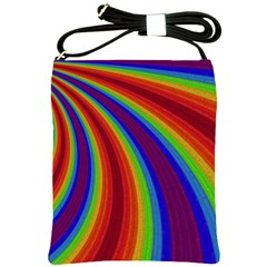 Abstract Pattern Lines Wave Shoulder Sling Bags